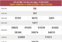 Thống kê XSBT 22/9/2020 chốt KQXS Bến Tre thứ 3