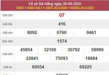 Thống kê XSDNG 30/9/2020 chốt số Đà Nẵng chuẩn xác
