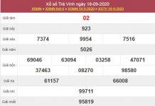 Thống kê XSTV 25/9/2020 chốt lô số đẹp Trà Vinh thứ 6