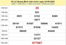 Thống kê KQXSQB ngày 01/10/2020 - xổ số quảng bình chuẩn xác