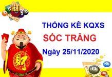 Thống kê XSST ngày 25/11/2020 - Dự đoán xổ số Sóc Trăng hôm nay