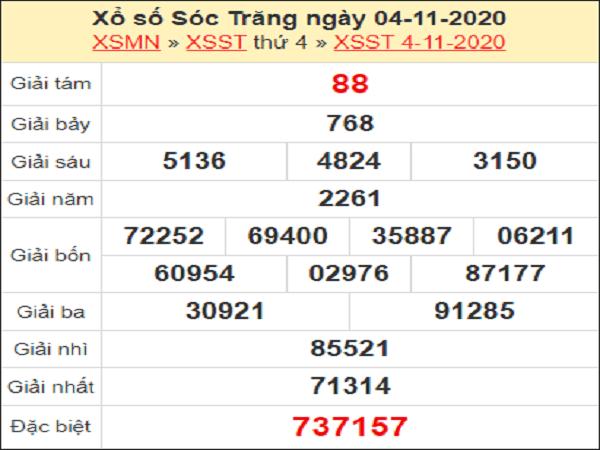 Phân tích XSST ngày 11/11/2020- xổ số sóc trăng chính xác