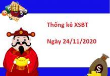 Thống kê XSBT 24/11/2020