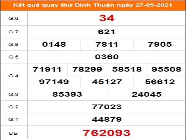 Quay thử xổ số Bình Thuận ngày 27/5/2021