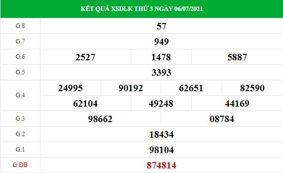 Thống kê soi cầu xổ số Daklak ngày 13/7/2021 hôm nay